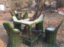 کار زیبای دهیاری لاور ده در پارک تازه تاسیس _ عبدالرسول باران خواه