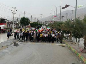 تصاویر حضور پر رنگ مردم روستای شیرینو در راهپیمایی ۲۲ بهمن